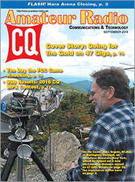 CQ September 2016 Cover