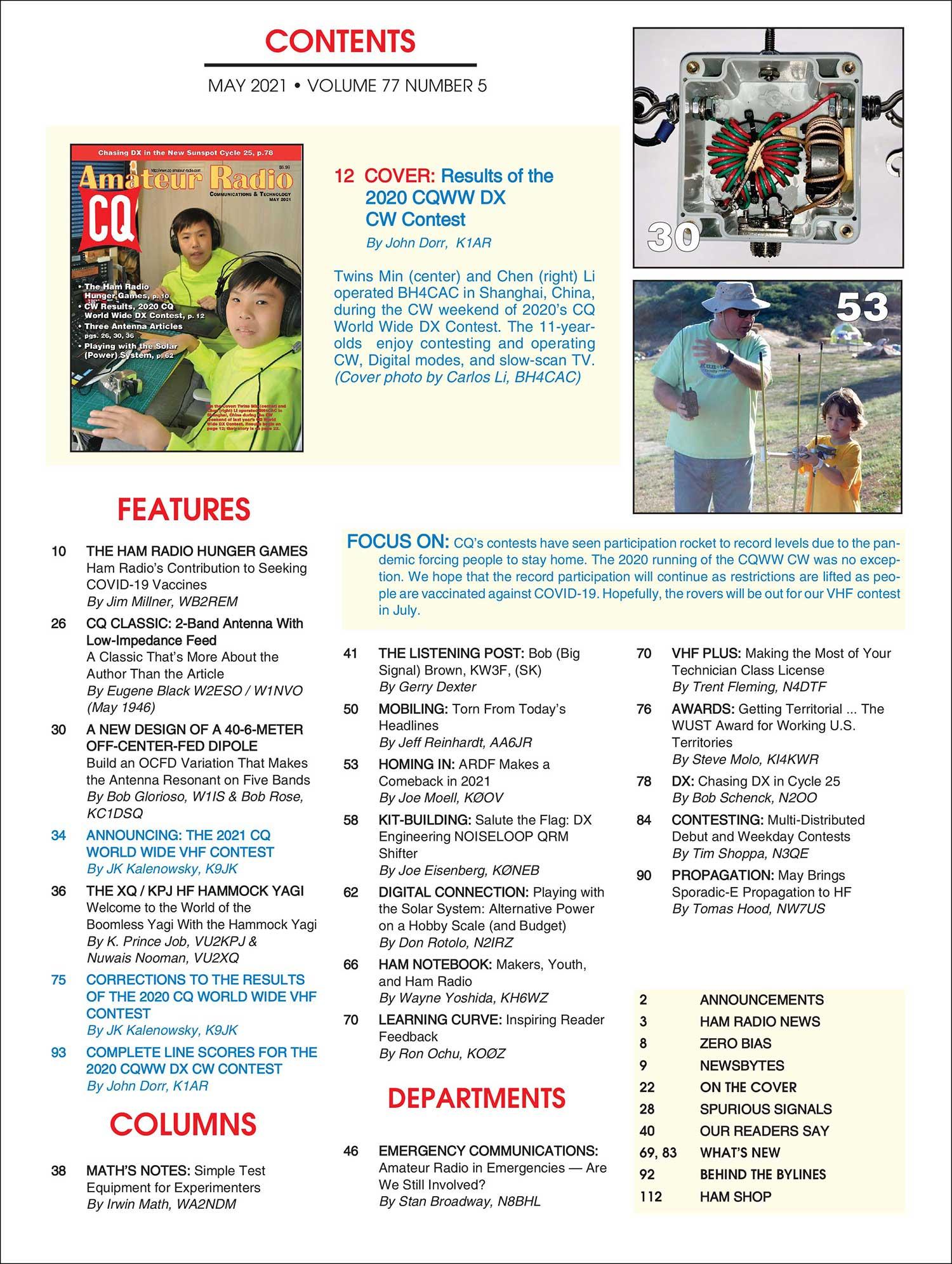 Ham Radio Contest Calendar 2022.Cq Current Issue